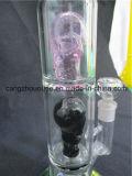 Les pipes de fumage chaudes en verre de Borosilicate de vente avec Intérieur-Soudent la roue Perc