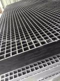 Reja negra de la fibra de vidrio, reja moldeada cóncava de Gfrp