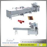 チョコレート水平の流れの包む機械