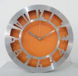 Reloj de pared inoxidable del metal del marco de acero del nuevo reloj 2017