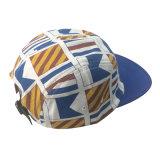 Sombrero de encargo del panel del casquillo cinco del campista del algodón