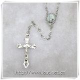 De godsdienstige Plastic Kleine Rozentuin van Parels met Paus Francis Connecting en Crucfix (iO-Cr381)