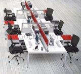 Station de travail informatique moderne modulaire en bois 6 personnes (SZ-WST841)