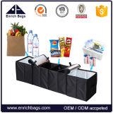 Grande organizador Foldable do tronco de carro 4-Compartments com refrigerador