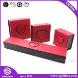 Contenitore di monili impaccante del regalo del cartone rigido Handmade di figura del cuore