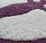 Acrylique Polyester Microfibre Nylon PP Empreinte Pied Impression Forme / forme Baignoire Douche Tapis de toilette Tapis