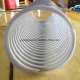 Шланг всасывания с белизной скрепляет ровное внутреннее и Corrugated снаружи