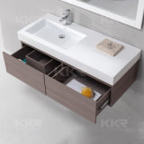 Sanitaryware moderno cuarto de baño Superficie sólida los sumideros de la cuenca del gabinete