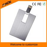 Mecanismo impulsor de destello de la tarjeta de crédito portable vendedor caliente de la pluma del USB con su insignia