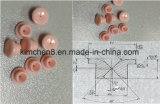 99.7% Oeillet Al2O3 en céramique pour la machine à filer de filament (identification : 0.5mm 6X4X0.5X4)