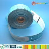 bedruckbarer 13.56MHz ISO14443A MIFARE Ultralight EV1 RFID Wegwerfwristband für Krankenhaus