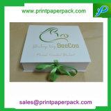 Het aangepaste Stijve Vakje van de Juwelen van het Vakje van de Gift van de Opslag van het Document van het Karton Vouwbare Verpakkende met het Lint van de Zijde