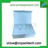 Cosméticos de encargo elegantes de la cartulina que empaquetan el rectángulo con el encierro de los imanes