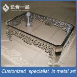 Европа Современный дизайн Серебристый стальной прямоугольный стол для дома