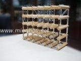 30의 병 나무로 되는 포도주 선반 소매 인기 상품 Custome 상점 선반