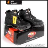 Черный ботинок безопасности неподдельной кожи цвета с новым Outsole (SN5501)