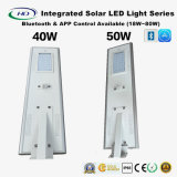 Bluetooth & APP 18-80W LED 센서를 가진 한세트 태양 가로등