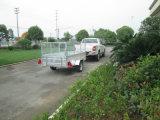 8X5 de gegalvaniseerde Aanhangwagen van de Doos met de Helling van het Netwerk