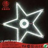 Luz da decoração do motivo da estrela do Natal do diodo emissor de luz