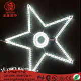LED 크리스마스 별 주제 훈장 빛