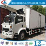 판매를 위한 Sinotruk 수용량 10ton에 의하여 냉장되는 트럭