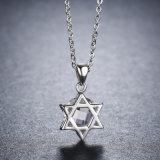 925 шкентель угла звезды стерлингового серебра 6 с ясным Zircon для ожерель ювелирных изделий женщин