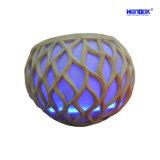 Altoparlante esterno dell'audio della scultura di illuminazione della sfera dell'arenaria del giardino