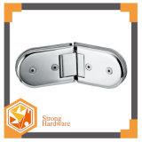 Cerniera di portello di vetro della doppia stanza da bagno dell'acciaio inossidabile da 90 gradi