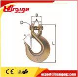 Crochet d'élingue de l'oeil G80 alliage en acier forgé avec loquet