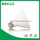 Дешевый пластичный шарик алюминия 12W PAR30 СИД с E27 Dimmable