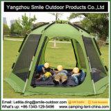 Tente d'hexagone de famille de couverture haute rapide de qualité grande