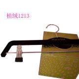 Vente en gros Black No Slip Custom Plastic Clip Pant Hangers Velvet