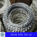 かみそりワイヤー---電流を通された、高炭素の熱浸される鋼鉄材料
