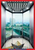 Levage guidé d'observation d'ascenseur de demi-cercle de verres de sûreté