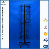 Custom Metal Wire Floor Standing Rotary drill Greeting Cards Display Rack (PHY2054)