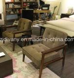 현대 이탈리아 작풍 나무로 되는 가죽 시트 여가 의자 (D-67)