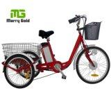 triciclo eléctrico de la anciano del cargo 250W de la rueda del neumático 24inch
