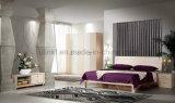 Preiswerte chinesische hölzerne doppeltes Bett-Entwurfs-Großhandelsmöbel stellten ein (UL-LF015)
