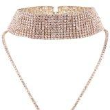 方法贅沢できらびやかで完全なラインストーンのマルチ層のダイヤモンドのチョークバルブのネックレスの宝石類
