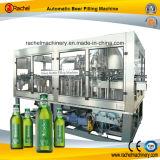 El frasco de cristal la cerveza de la máquina de embalaje automático