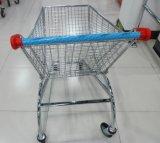 Véhicule de chariot rond électrique à achats de panier de supermarché