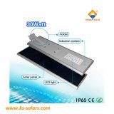 Commerce de gros de la rue LED Solaire Panneau solaire de la lampe témoin 30W-120W avec ce RoHS