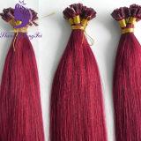 La fabbrica fornisce l'estensione peruviana 100% dei capelli umani della cheratina di punta di Remy U