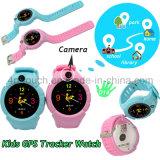 アラームSosのスマートな子供GPSの追跡者の腕時計をはずしなさい
