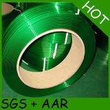 Het Groene Huisdier dat van de Rang van de machine Band vastbindt