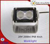 20W linterna del CREE 4inch 12V Pi68 LED para el carro 4X4 campo a través