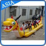 Barca di banana gonfiabile del drago della tela incatramata del PVC, barca trainabile gonfiabile, drago di volo gonfiabile