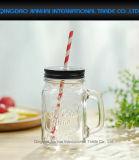 600ml de vidrio transparente de los alimentos, ensalada, fruta, botella de Mason con asa