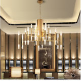 Niza Moderno 30 armas oro LED de la lámpara pendiente de la lámpara de Hotel