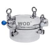 Rodada de pressão regular sanitária em aço inoxidável Ss304 / Ss316L Capa do reservatório